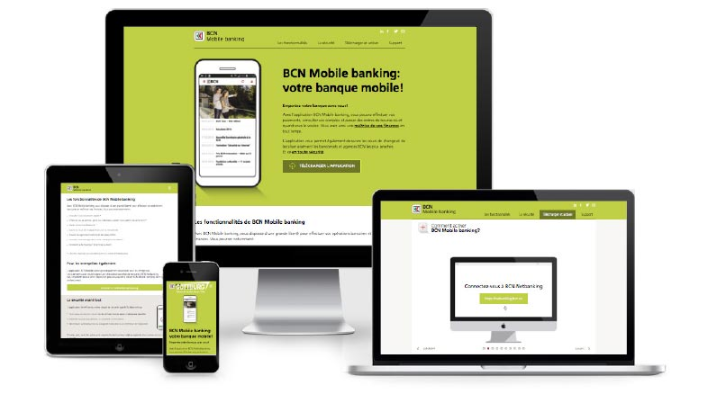 Site BCN mobile banking